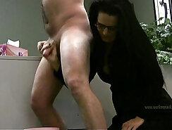 Boss handjob short cumshot