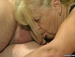 Big Tit Granny Gets Slo-Mo Threesome Action