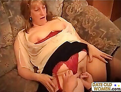 Chubby Womans Blown by Grandma while Lodging