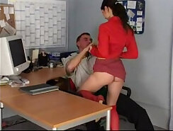 Boss getting on top of worker