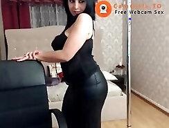 Beautiful girl masturbates in hotel room
