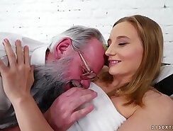 busty girlfriend grandpa introduces loads of sugar then gets tied up
