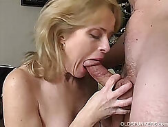 Amateur mature babe sensually fucks after compete