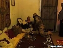 Arab tied up in American hotel