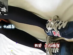 beautiful blowjob chinese take footjob