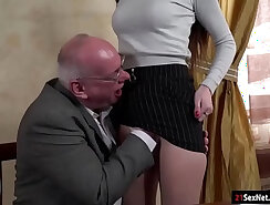 Beautiful College Teen Alone Licked by Teacher