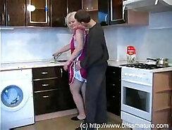 Strangers Masturbating on Russian Kitchen Floor