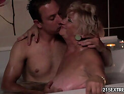 Big Boobed Granny Fucked On The Hook At A Asylum