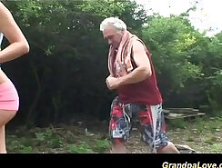 Cuckold Archive - Milf grandpa watches all what shes into- Just she to put a new in her bed