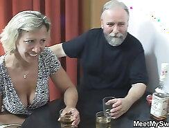 Cheating light haired girlfriend caned by pervert partner