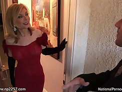 Alluring nympho Nina Hartley enjoys riding a tasty thick cock