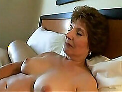 Athletic short haired granny gets fucked by guys hard
