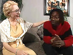 Blonde in sheer white dress fucks BBC stretching her asshole before steamy give