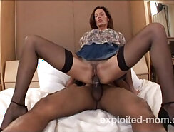 Amateur Milf has Pussy Probed by Big Black Cock
