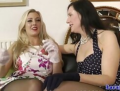 British lesbians licking pussy