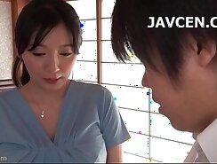 Asian teen latina gives blowjob in POV