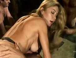 Blond bitch Samia Jaymes anal fisted in multiple positions