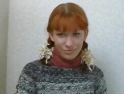 Cute redhead teen at porn casting