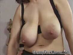 Cougar Granny Sharing Dick with Stepson
