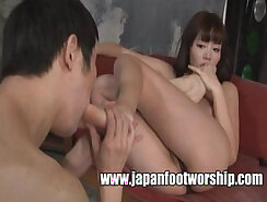 Big Foot Fetish Japanese Girl Shori Styles Draining Strangers Big Dick
