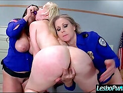 Cute Asian chick punished by lesbo on cable