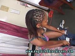 Ebony Young Black Teen In Black Amateur Video