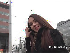 Amateur Russian MILF leant and fucked in public