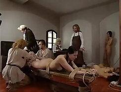 Three girl hard punishment