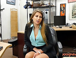 Natural tits babe pounded by pawn guy