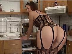 Hot ass stockings babe sucks