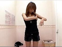 All loving japanese uses lingerie in bed