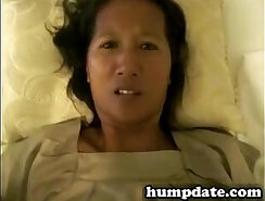 Big titted Asian wife got her sweet hairy pussy fully stretched by lover