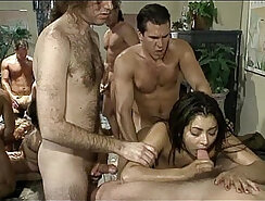 crop of dicks is pressed into a mouthful